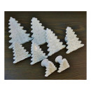 Extruded molds for Christmas tree cookies 8pcs