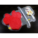 Minnie Mouse extrudierte Form plus Zubehör
