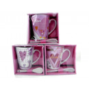 wholesale Cups & Mugs: HEART ceramic mug with spoon
