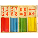Numbers and sticks  for learning counting