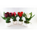 Artificial flower in flower pot TULIPAN 17cm