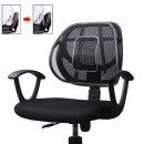 Ergonomic chair support with massager
