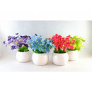 wholesale Artificial Flowers: Artificial flower in flowerpot DZWONEK 14cm