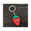 wholesale Jewelry & Watches: Key ring rubber strawberry carrot watermelon pinea