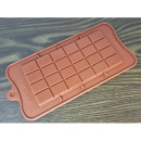 A silicone mold for a chocolate bar