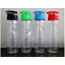 800ml ice water bottle with fruit refill