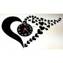 Clock glued to the wall, HEART