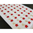 Decorative stickers, stars and pearls