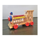 Educational wooden toy locomotive