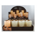 wholesale Candles & Candleholder: LED candle covered with wax, AVERAGE