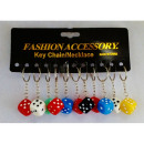 wholesale Gifts & Stationery:Key ring, DICE CUBE