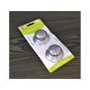 Steel pot knobs, 2 pcs