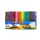 grossiste Fournitures scolaires: stylos à pointe  feutre ensemble de 24 couleurs