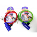 Spiral bicycle lock