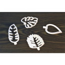 Extruded molds leaves 4 pcs