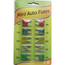 wholesale Car accessories:Mini car fuses 10 pcs
