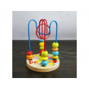 Toy with wooden beads