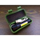COB aluminum flashlight 9.5cm rechargeable box zoo