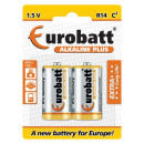 Alkaline Plus R14 batteries - 2 items