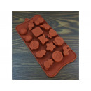 Silicone form for chocolate 15pcs mix