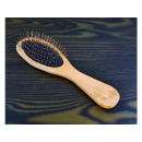 Hairbrush 22cm wood metal tip