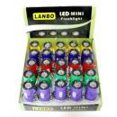 LED Flashlight  Keychain 1 zoom compass
