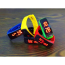 Electronic silicone jelly watch band