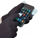 Gloves iGlove to  use smartphones black