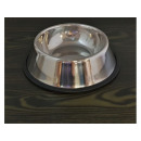 Anti-slip steel dog bowl 16x22cm