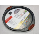 Round pizza tray 33cm marbled
