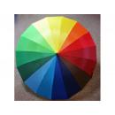 ingrosso Borse & Viaggi: Ombrello, maniglia modello arcobaleno J