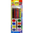 wholesale Gifts & Stationery: Paint watercolors  of crayons (17 elements)