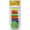 groothandel Fournituren & naaigerei: Gekleurde draad met naalden