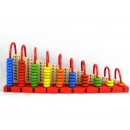 Wooden abacus for learning to count