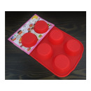 Silicone muffin form 6pcs 29x18,5x3cm