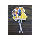 wholesale Decoration: Decoration on a stick BEAUTY AND THE BEAST 4 pcs