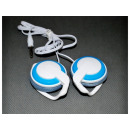 CD / MP3 earphones placed behind the ear