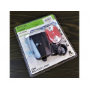 Bicycle lights set 3xCOB front and 5led rear