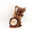 Stylized fireplace clock, SWAN