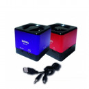 External, portable  USB speaker SD, qubik