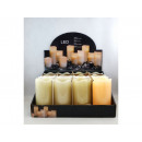 wholesale Candles & Candleholder: LED candle covered with wax, LARGE