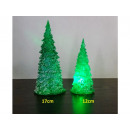 grossiste Décoration: arbre de Noël acrylique LED, 12 cm