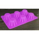 Silicone cupcakes, 6 pcs, purple