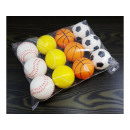 wholesale Balls & Rackets: Relax antistress ball 6.3 cm, pattern mix
