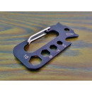 Multitool steel carabiner 7cm EDC