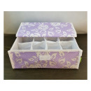 Organizer for underwear 12 compartments with lid