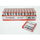 wholesale Batteries & Accumulators: Max Power AA R6 shrink batteries 4 pcs
