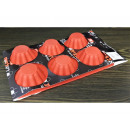 Silicone mold cupcakes, 6 pcs red