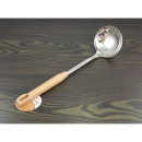 Ladle steel, wooden handle