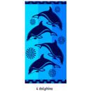 Beach Towel Four Dolphins